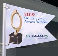 Golden link flag